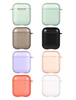abordables -étui pour apple scene map air pods 1/2 universel couleur pure mat mat tpu étui souple casque bluetooth coque de protection