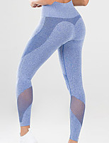 cheap -Women's High Rise Running Tights Mesh Patchwork Mesh Sports Winter Tights Leggings Running Fitness Jogging Moisture Wicking Soft Butt Lift Solid Color Blue Pink Gray / High Elasticity / Skinny