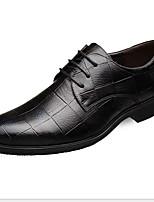 cheap -Men's Comfort Shoes PU Fall & Winter Oxfords Black