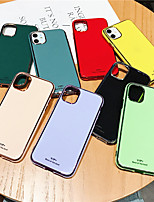 cheap -Case For Apple iPhone 11 / iPhone 11 Pro / iPhone 11 Pro Max Plating Back Cover Solid Colored TPU X XS XSmax XR 7 7plus 8 8plus 6  6plus