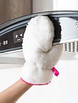 cheap -Bamboo Fiber Dishwashing Gloves Female Durable Kitchen Artifact Brush Bowl Chores Clean Non-stick Oil Waterproof Plus Velvet Thickening