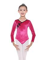 cheap -Kids' Dancewear Leotards Girls' Training Cotton / Spandex Gore Long Sleeve Natural Leotard / Onesie