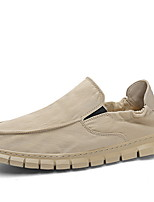 cheap -Men's Comfort Shoes PU Winter Loafers & Slip-Ons Booties / Ankle Boots Black / Beige / Gray