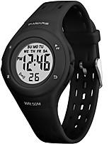 cheap -SYNOKE Digital Watch Digital Sporty Stylish Silicone 30 m Water Resistant / Waterproof Calendar / date / day LCD Digital Outdoor Fashion - Black Purple Pink