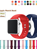 abordables -bracelet de montre pour Apple Watch Series 5/4/3/2/1 Apple Sport Band Bracelet en silicone