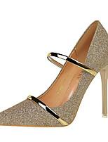 cheap -Women's Heels Stiletto Heel Pointed Toe PU Winter Black / White / Champagne