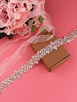 cheap -Satin Wedding / Party / Evening Sash With Belt / Crystals / Rhinestones Women's Sashes