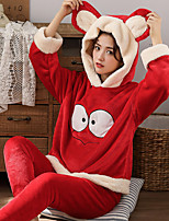 cheap -Adults' Kigurumi Pajamas Bear Onesie Pajamas Flannel Green / Red Cosplay For Men and Women Animal Sleepwear Cartoon Festival / Holiday Costumes / Leotard / Onesie