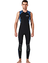 cheap -Dive&Sail Men's Shorty Wetsuit 1.5mm CR Neoprene Diving Suit Anatomic Design Sleeveless Back Zip Patchwork Autumn / Fall Spring Winter / High Elasticity