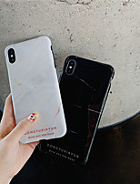 cheap -Case For Apple iPhone 11 / iPhone 11 Pro / iPhone 11 Pro Max Shockproof / IMD / Pattern Back Cover Marble TPU for iPhone X XS XR XS MAX 8 8PLUS 7 7PLUS 6 6PLUS 6S 6S PLUS