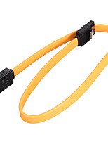 cheap -Computer Cable Data Lines Hard Disk Internal Cable Charging Wire SATA Hard Drive Data Cable 6Gbps 40CM Yellow Durable
