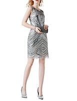 cheap -Dance Costumes Dresses Women's Performance Terylene Paillette Sleeveless Dress