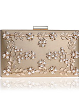 cheap -Women's Crystals / Glitter PU Evening Bag Floral Print Black / White / Blushing Pink