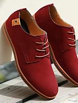 cheap -Men's Comfort Shoes Cowhide Winter Oxfords Black / Brown / Yellow