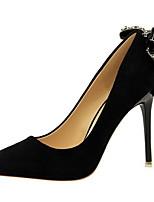 cheap -Women's Heels Stiletto Heel Pointed Toe PU Winter Black / Green / Red