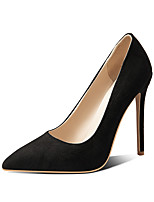 cheap -Women's Heels Stiletto Heel Pointed Toe Microfiber Classic / Minimalism Spring &  Fall Black / Almond / Green / Wedding / Party & Evening