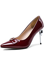 cheap -Women's Heels Stiletto Heel Pointed Toe Rhinestone Microfiber Classic Spring &  Fall Black / Wine / Almond / Wedding / Party & Evening