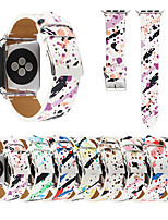 cheap -New High Quality Leather Painted Watchband For Apple Watch Series 5/4/3/2/1 For iWatch Band 44MM 40MM 42MM 38MM Replacement Accessories