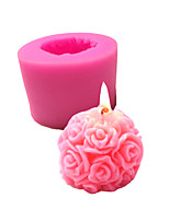 cheap -DIY Rose Ball Silicone Mold Aromatherapy Candle Fragrance Stone Valentine's Day Gift