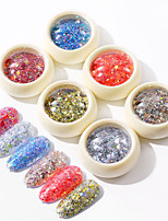 cheap -1 pcs Safety / New Design / Creative Plastics Loose powder Sequins For Finger Nail Romantic Series Fashion nail art Manicure Pedicure Daily / Festival Trendy / Fashion