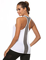 cheap -Women's Yoga Top Patchwork Fashion Black White Burgundy Mesh Yoga Running Fitness Vest / Gilet Sleeveless Sport Activewear Lightweight Quick Dry Comfortable Stretchy Loose