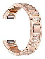 abordables -bracelet de montre pour fitbit charge2 fitbit bijoux conception en acier inoxydable bracelet en diamant bande en métal