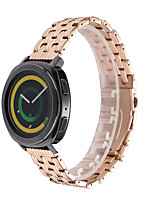 cheap -Watch Band for Huawei Watch GT / Samsung Galaxy Watch 46mm / Samsung Galaxy Watch 42mm Samsung Galaxy Jewelry Design Stainless Steel Wrist Strap Five Beads Strap