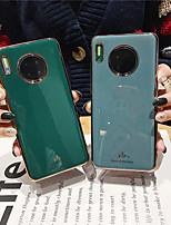 cheap -Case For Huawei Huawei Mate 20 lite / Huawei Mate 20 pro / Huawei Mate 20 Plating Back Cover Solid Colored TPU Mate30 Mate30pro Mate30lite