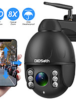 cheap -DIDSeth 1080P PTZ IP Camera Wifi Outdoor Speed Dome Wireless Wifi Security Camera Pan Tilt 8X Digital Zoom 2MP Network CCTV Camera