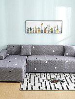 cheap -Polka Dot Print Dustproof All-powerful Slipcovers Stretch Sofa Cover Super Soft Fabric Couch Cover with One Free Pillow Case
