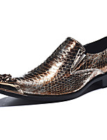 cheap -Men's Novelty Shoes Nappa Leather Spring & Summer / Fall & Winter Casual / British Loafers & Slip-Ons Non-slipping Gold / Party & Evening
