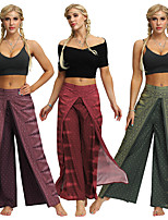 cheap -Women's Yoga Pants Harem Palazzo Wide Leg Print Gray+Green Dark Purple Dark Red Dance Fitness Gym Workout Bloomers Sport Activewear Lightweight Breathable Quick Dry Soft Stretchy Loose