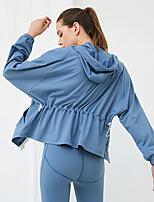 cheap -Women's Tracksuit Yoga Suit Winter Front Zipper 3pcs Color Block Burgundy Blue Pink Elastane Yoga Running Fitness Hoodie Leggings Bra Top Long Sleeve Sport Activewear Thermal / Warm Moisture Wicking