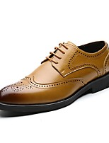 cheap -Men's Formal Shoes Patent Leather Fall Oxfords Black / Yellow
