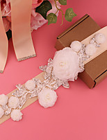 cheap -Satin Wedding / Party / Evening Sash With Crystal / Imitation Pearl / Appliques Women's Sashes