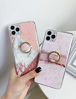 cheap -Case For Apple iPhone 11 / iPhone 11 Pro / iPhone 11 Pro Max Shockproof / Ring Holder Back Cover Geometric Pattern TPU