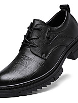 cheap -Men's Formal Shoes Nappa Leather Spring / Fall & Winter Casual / British Oxfords Non-slipping Black / Brown