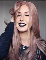 cheap -Synthetic Wig Straight kinky Straight Asymmetrical Wig Long Bright Purple Synthetic Hair 27 inch Women's Best Quality Purple