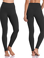 cheap -Women's High Waist Yoga Pants Fashion Black Dark Pink Purple Military Green Cyan Running Fitness Gym Workout Tights Leggings Sport Activewear Moisture Wicking Butt Lift Tummy Control High Elasticity