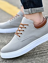 cheap -Men's Comfort Shoes Canvas Winter Sneakers Black / White / Red