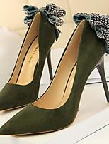 abordables -Femme Chaussures à Talons Talon Aiguille Bout pointu Polyuréthane Hiver Noir / Fuchsia / Jaune