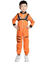 cheap -NASA Cosplay Costume Kid's Boys' Cosplay Halloween Halloween Festival / Holiday Polyester Orange Carnival Costumes