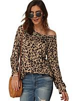 cheap -Women's Daily T-shirt - Leopard Purple