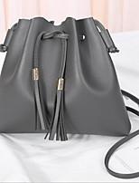 cheap -Women's PU Crossbody Bag Solid Color Black / Brown / Blushing Pink