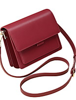 cheap -Women's PU Crossbody Bag Solid Color Red