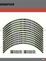 cheap -12 X Thick Edge Outer Rim Sticker Stripe Wheel Decals FIT ALL kawasaki Z650
