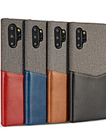 cheap -Case For Samsung Galaxy Note 9 / Galaxy S10 / Galaxy S10 Plus Card Holder / Shockproof / Ultra-thin Back Cover Solid Colored Genuine Leather / Canvas