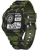cheap -SYNOKE Digital Watch Digital Sporty Stylish Silicone 30 m Water Resistant / Waterproof Calendar / date / day LCD Digital Outdoor Fashion - Brown Green Red