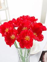 cheap -Artificial Flower Pu Mini Poppy Home Wedding Decoration 2 Sticks