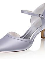 cheap -Women's Wedding Shoes Stiletto Heel Closed Toe Satin Sweet Spring & Summer / Fall & Winter Silver